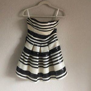 Strapless sequin Bebe dress